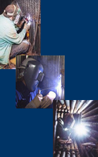 Tube welders at work